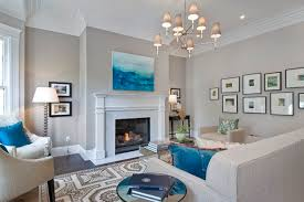 Gray Living Room Decorating Dining Combo