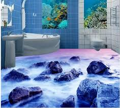 3d badezimmer tapete wasserdicht riff bad boden 3d boden malerei tapete pvc selbstklebende tapete