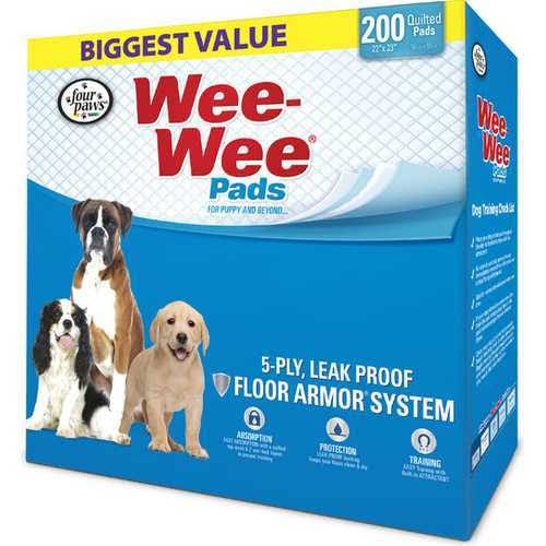 Four Paws Wee-Wee Dog Training Pads - 200pk