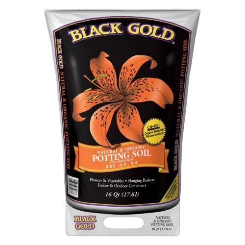 Black Gold Natural and Organic Potting Soil - 16qt