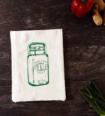 Pickle Jar Mason Kitchen Towel Set