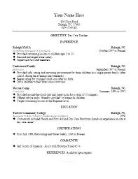 Daycare Job Resume Sample Child Care For Childcare Nanny Writing Tips Companion Assistant Position