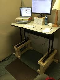 Diy Standing Desk Riser by 100 Diy Standing Desk Riser Ideas Stand Up Laptop Desk