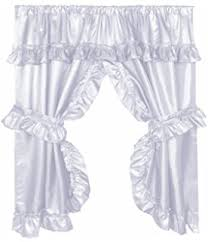 Priscilla Curtains With Attached Valance by Amazon Com Stephanie Country Ruffle Priscilla Curtains Pair 86