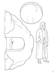 Coloring Page Resurrection Illustration