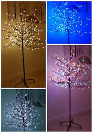 3ft Pre Lit Blossom Christmas Tree by Cherry Blossom Outdoor Tree Led Outdoor Trees Ebay