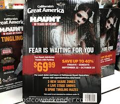 Californias Great America Halloween Haunt 2017 by Great America 2017 Halloween Haunt 2 General Admission Costco