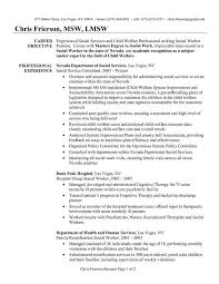 Social Work Resume New Example Examples Of Resumes Minimalist Free