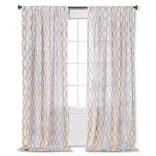 Target Gray Sheer Curtains by Semi Sheer Wavy Lines Curtain Panel Threshold Target