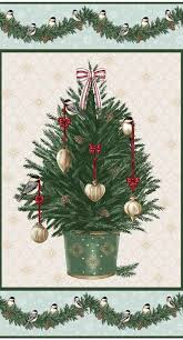 Silvertip Christmas Tree by Blank Quilting Home For The Holidays Panel Melinda U0027s Fabric Shop