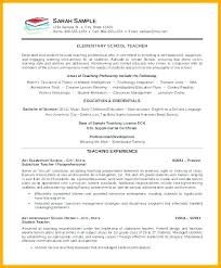 Sample Resume For Secondary Teacher Applicant Responsibilities Student Template 7 Teaching Graduate Samp