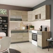 details zu küche l form alina 180 x 200 cm küchenzeile einbauküche sonoma eiche neu
