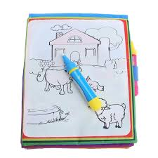 New Arrives Magic Kids Water Drawing Book Animals Painting Coloring Toy 2 X