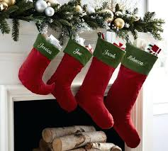 Pottery Barn Velvet Stocking Red With Green Cuff And Tree Skirt Lime Skirts Stockings