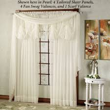 Lace Priscilla Curtains With Attached Valance by Sheer Curtains U0026 Window Treatments Touch Of Class
