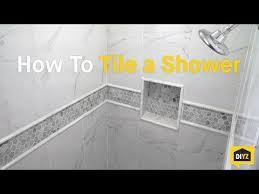 how to tile shower walls