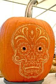 Sugar Skull Pumpkin Carving Patterns by Katiedid Repinned By All Creatures Gift Shop Sugar Skull