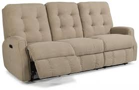 flexsteel devon power reclining sofa with power headrest leather
