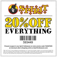 20 Percent Off Spirit Halloween Coupon Dtw Parking Coupons ...