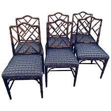 Vintage Set Of Six Faux Bamboo Chinese Chippendale Dining ... Bamboo Chippendale Chairs Small Set Of Eight Tall Back Black Faux Chinese Chinese Chippendale Florida Regency 57 Ding Table Vintage Six A Quick Living Room And Refresh Stripes Whimsy Side By Janneys Collection Chair Toronto For Sale Four