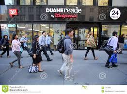 100 Duane Nyc DUANE READE WALGREENS PHARAMACY Editorial Photography Image Of