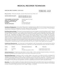 Medical Records Clerk Resume Objective For Clerical Resumes