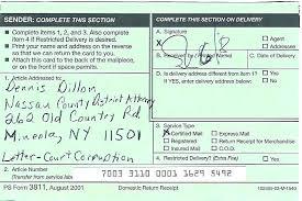 Return Receipt Certified Mail Labels With Return Receipt Return