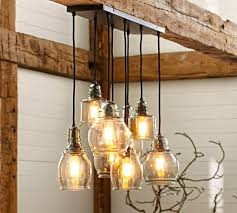 various paxton glass 8 light pendant pottery barn for dining