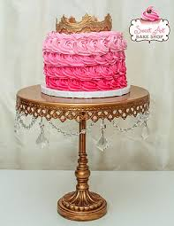 Gold Hanging Crystal Cake Stand