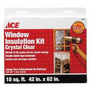 "Ace Window Insulation Kit - Crystal Clear, 42""x62"""