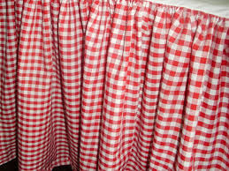 and White Gingham Check Bedskirt Regular or Extra Long Dustruffle