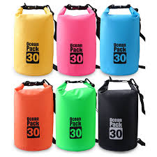 Women Men PVC Waterproof Drifting Bag Outdoor Beach Bag is fashion