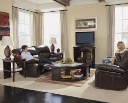 Traditional Dark Brown Norcastle Sofa Table by Damacio Dark Brown 2 Seat Power Reclining Sofa From Ashley