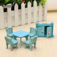 Amazoncom Pixnor 5pcs 112 Dollhouse Miniature Dining Table Chair