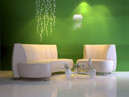 Beautiful Green Colored Home Dapazze Living Room With Chairs