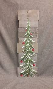 Christmas Tree Watering Device Homemade by Christmas Tree Red Bulbs Gray Reclaimed Pallet Art 3 Foot