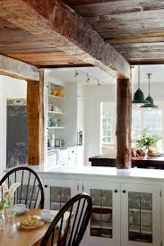 new farms dining room traditional with barnboard ceiling