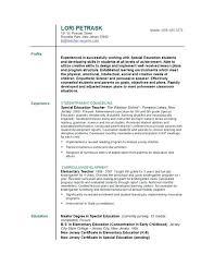 Resume Format For Teacher Images Sample Teachers Job