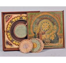 Antique Chiromagica Wooden Box Board Game