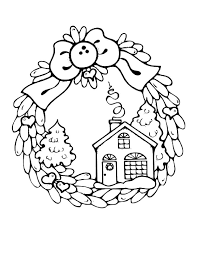 Christmas Houses Coloring Pages