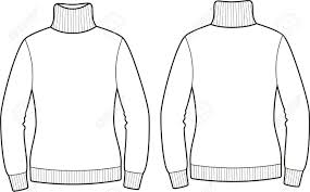 Vector Illustration Sweater Front And Back Views Royalty Free