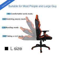 100 Big Size Office Chairs Kinsal Large Tall Racing Gaming Chair LummyShop