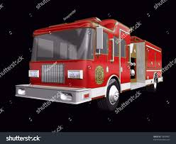 3 D Fire Truck On Black Background Stock Illustration 18659467 ...