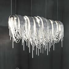 italienische luxus atlantis aluminium vorhang kette drop wohnzimmer esszimmer licht villa hotel technik ideen led len