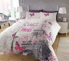 Intriguing Eiffel Tower D Printed Bedding Set Twin Full Queen King