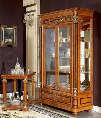 edle vitrine antik stil barock rokoko schrank schaufenster wohnzimmer glas neu