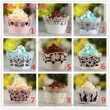 2019 Many Design Wedding Cake Party Decorations Cupcake Liners Customized Fancy Die Cut Royal Lace Flower Wrappers Paper Craft Favor From Seasonchan