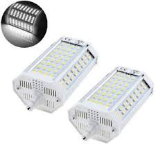 2x 25w r7s 118mm j118 ended led light bulbs not dimmable