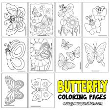Butterfly Coloring Pages Free Printable From Cute To Realistic Butterflies
