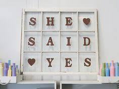 She Said Yes Rustic Window Frame Wedding Decor Or Perfect For Engagement Shoots
